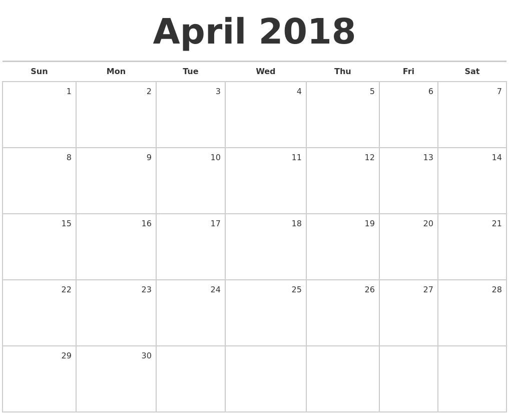 April Calendars