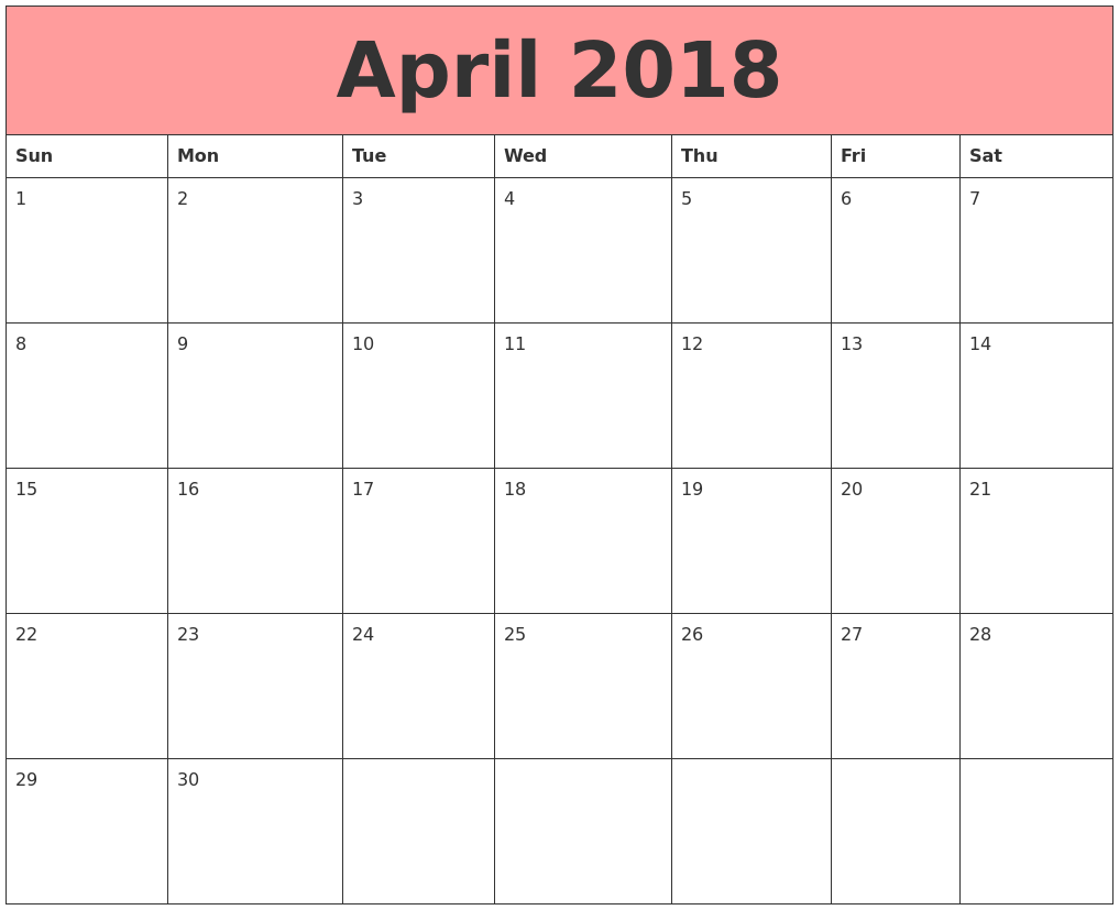 Calendar April Image : April calendars that work