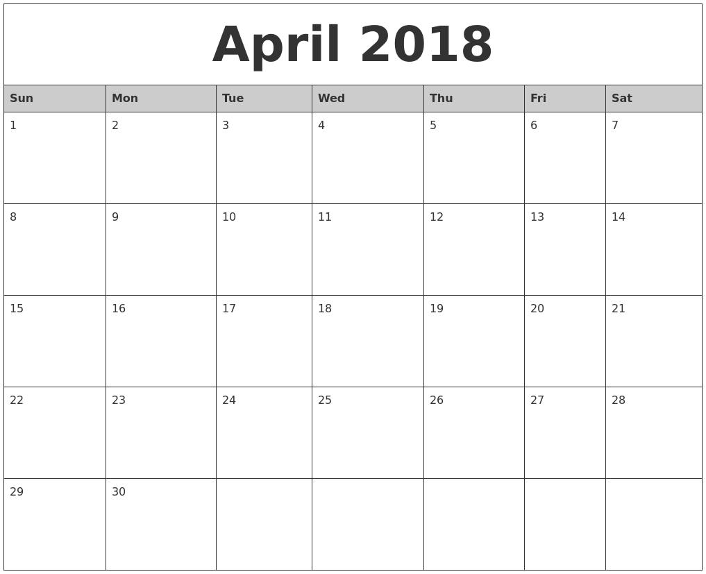 january 2018 printable blank calendar