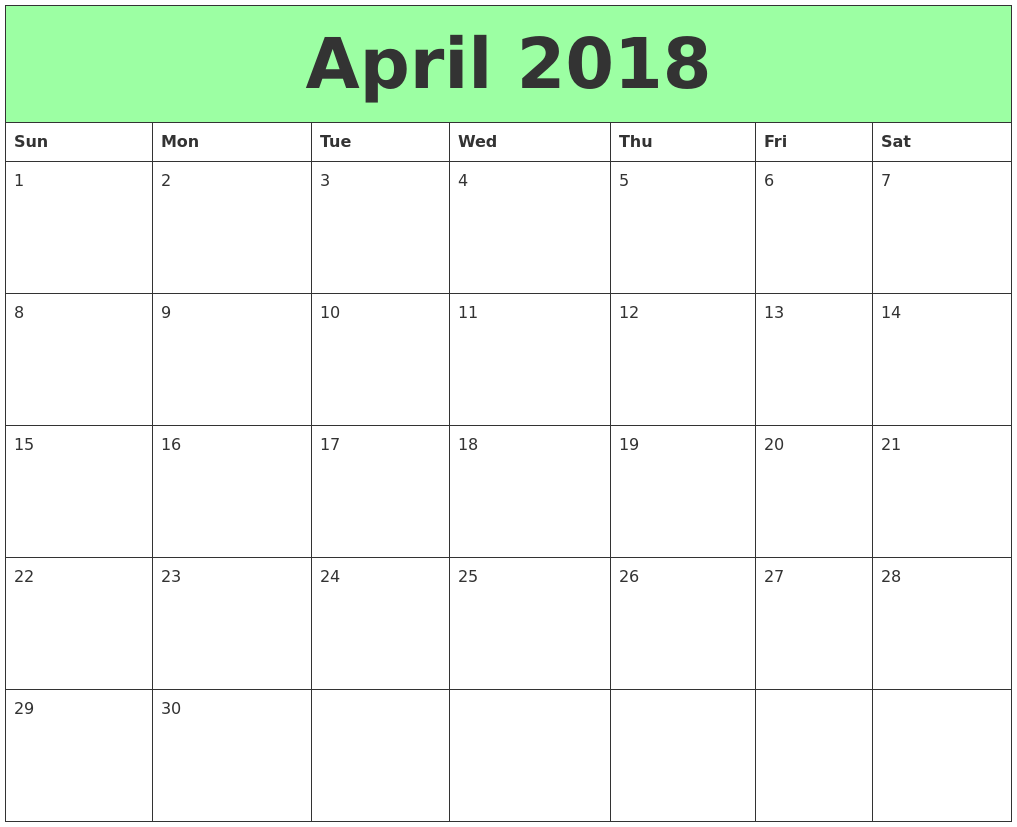 Calendar April Print : September calendar printable