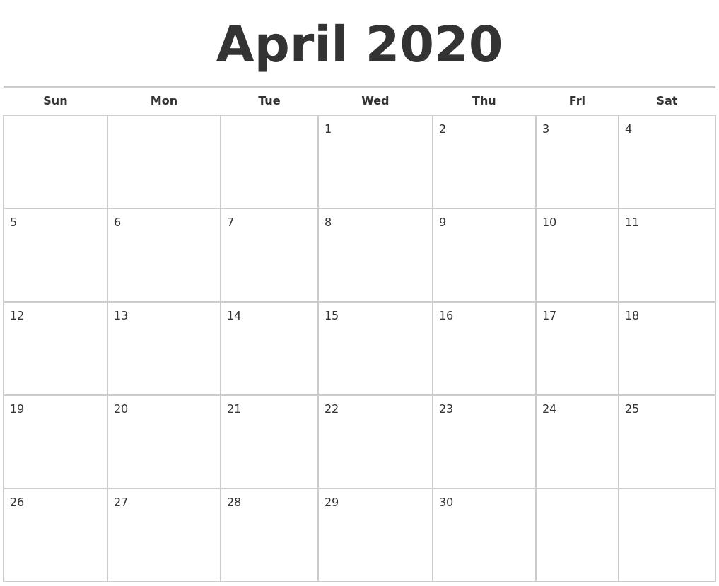 December 2019 Printable Monthly Calendar