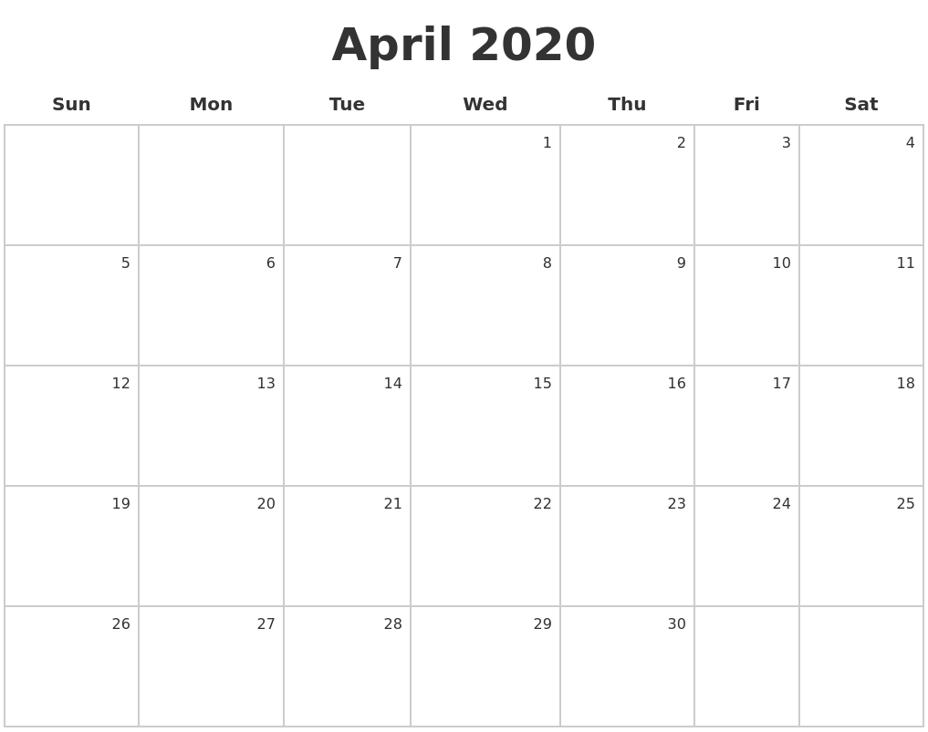 It is a graphic of Selective April 2020 Printable