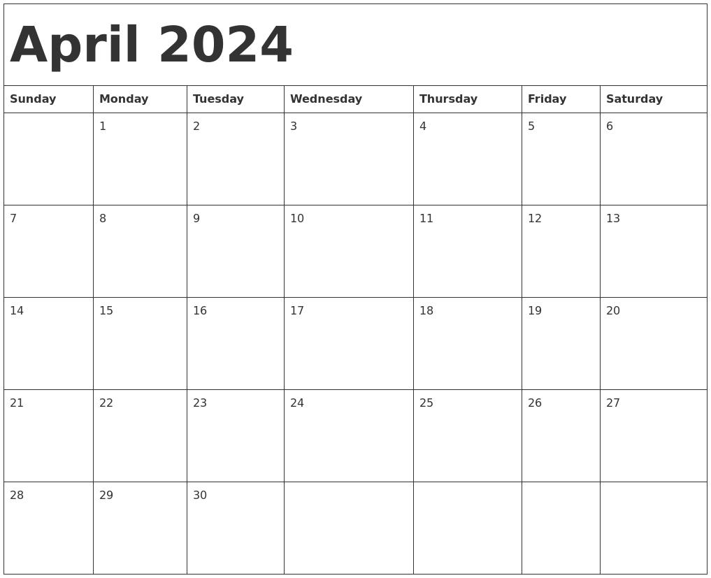 april 2024 calendar template
