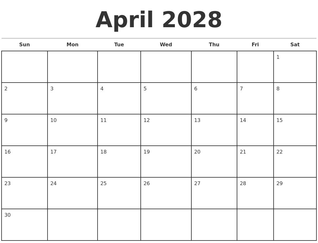 Printable Calendar 2018 Template