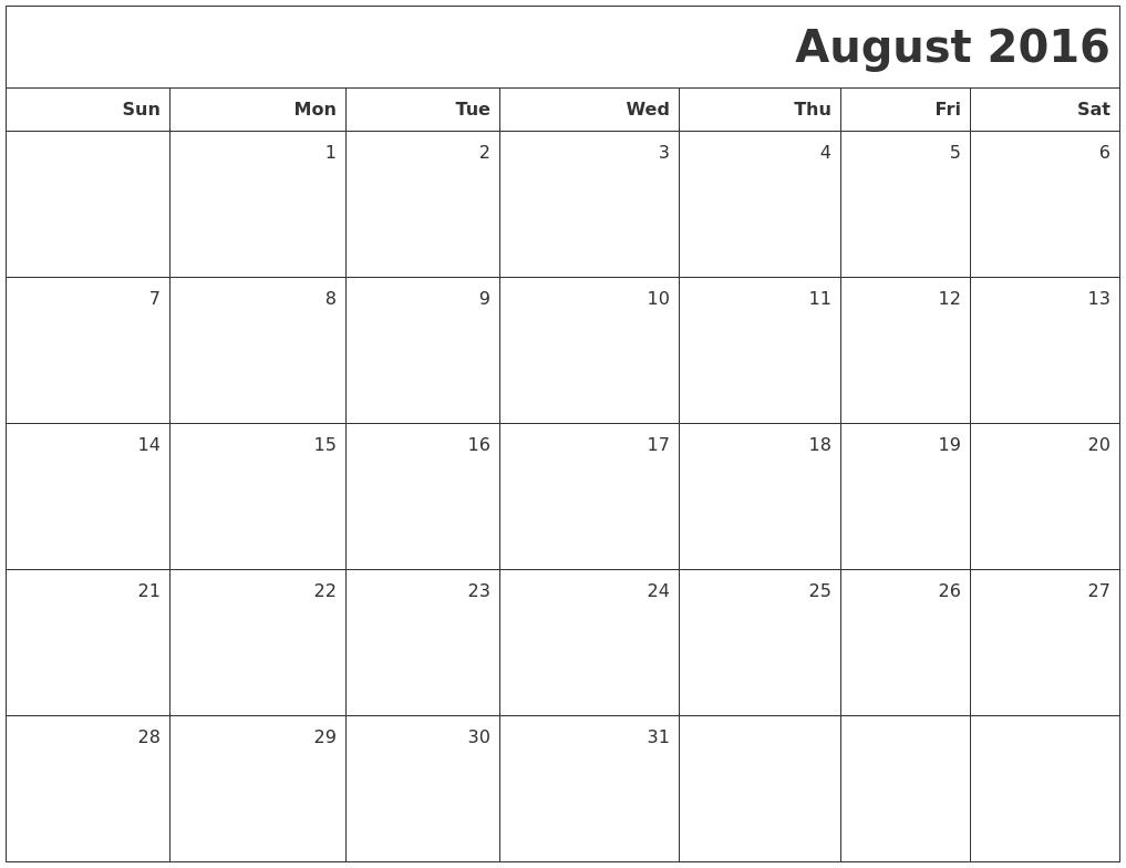 February 2017 Blank Printable Calendar