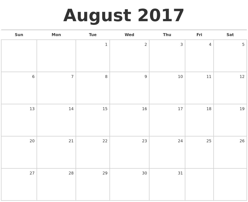 Blank Calendar By Month | Calendar Template 2016