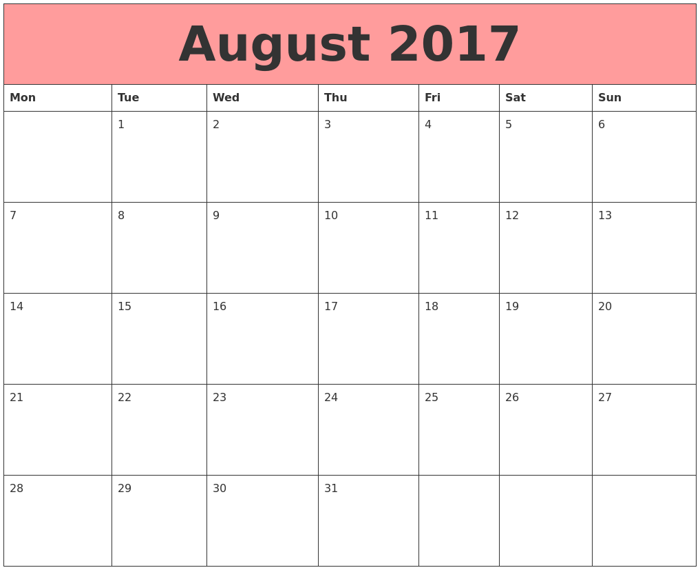 MONMOUTH UNIVERSITY ACADEMIC CALENDAR FALL SEMESTER 2017