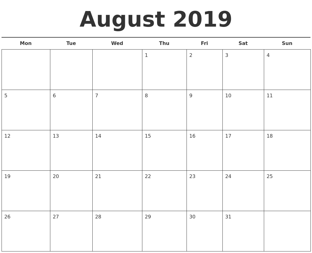 21 august 2019