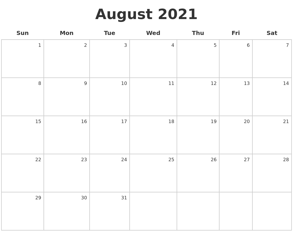15. August 2021