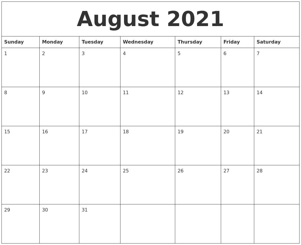 august 2021 printable december calendar
