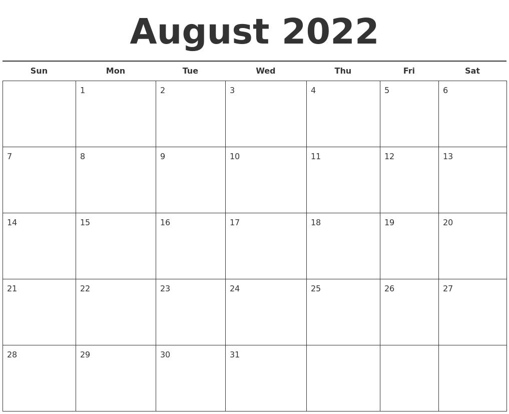 May 2022 Printable Calendars