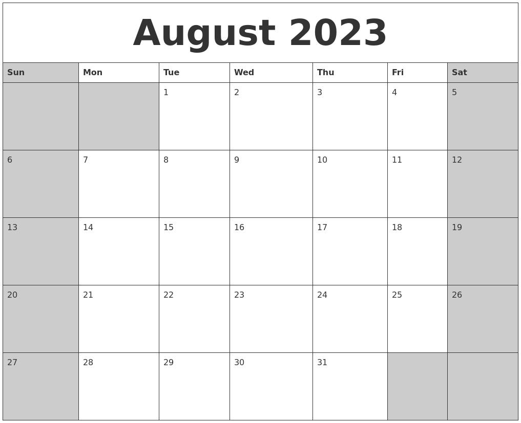 May 2023 Printable Calender