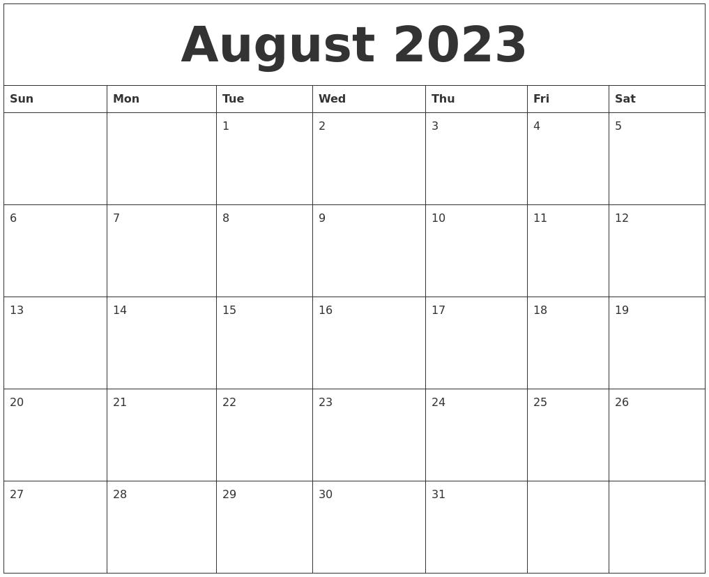 February 2024 Print Blank Calendar