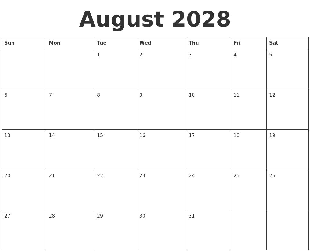 October 2027 Calendar
