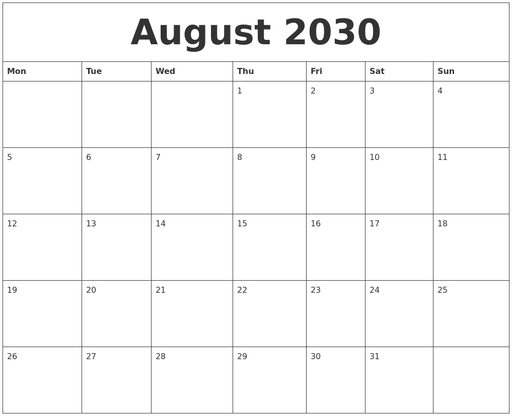Free Blank Calendar Template from www.calendarzoom.com