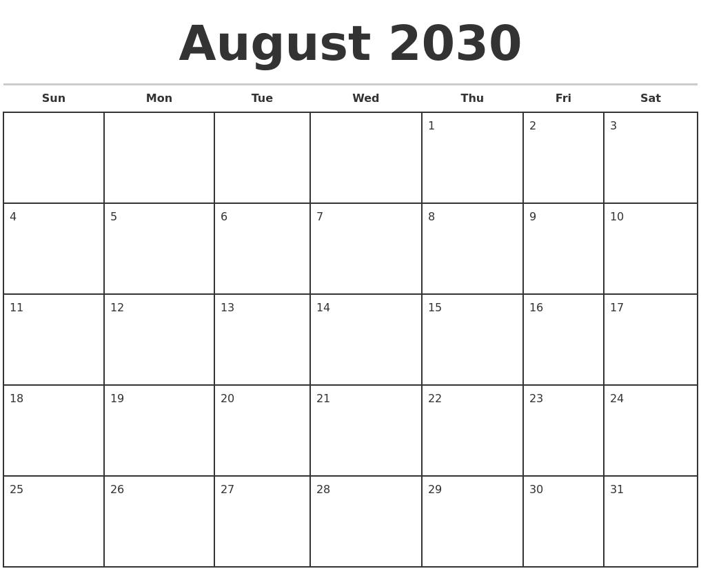 Calendar Typography Zoom : September month calendar