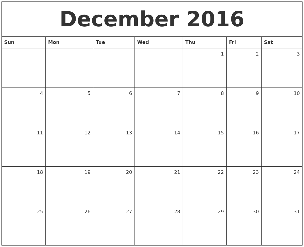 Monthly Calendar Dec : December calendars