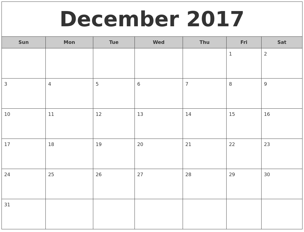 Calendar Monthly December : December free monthly calendar