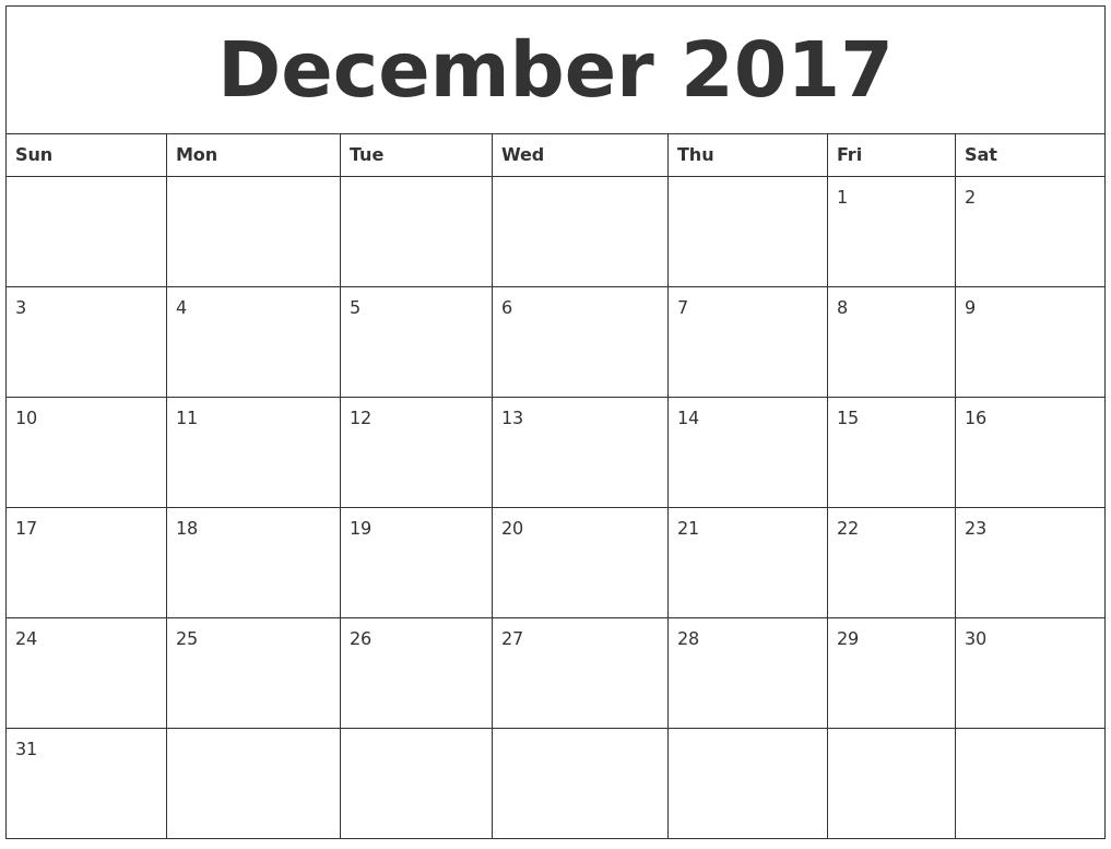 free calendar templates 2017