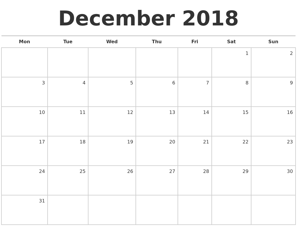 November 2018 Calendar Printable Template | Site Provides ...