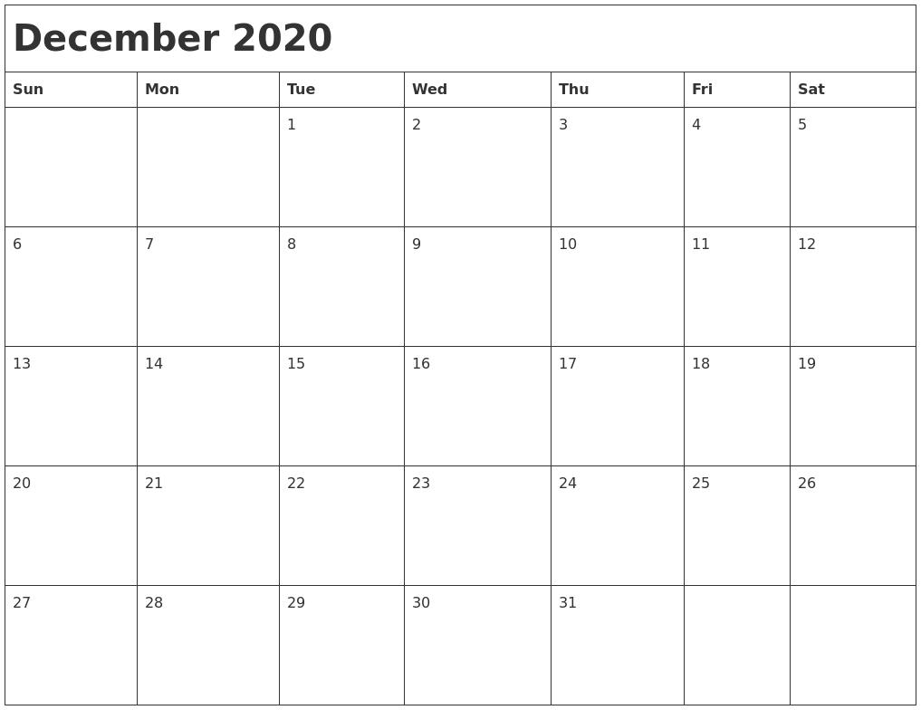 December Calendar 2020 : March printable blank calendar