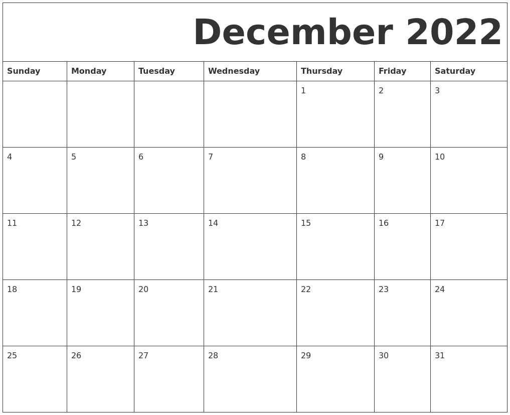Free Printable Calendar December 2022.December 2022 Free Printable Calendar