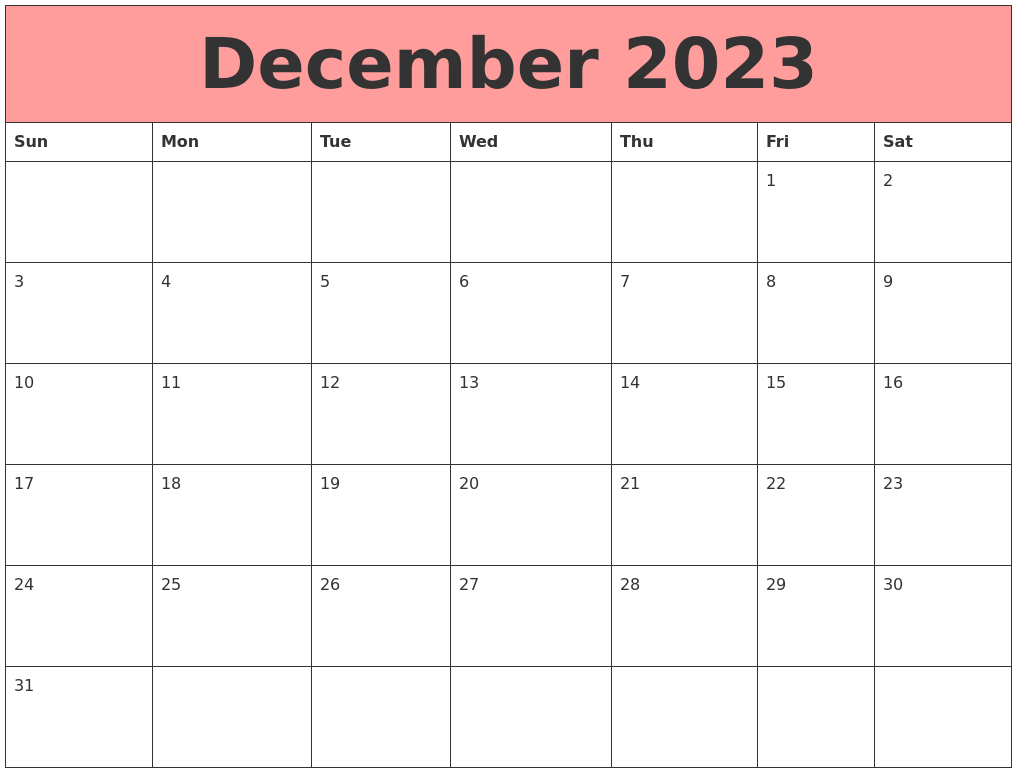 June 2023 Calendar Template