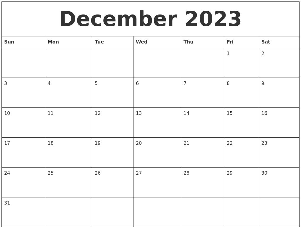 August 2023 Free Weekly Calendar