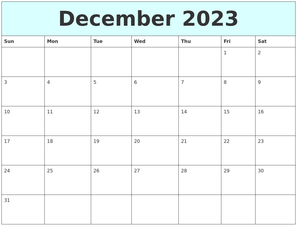 May 2023 Calendar