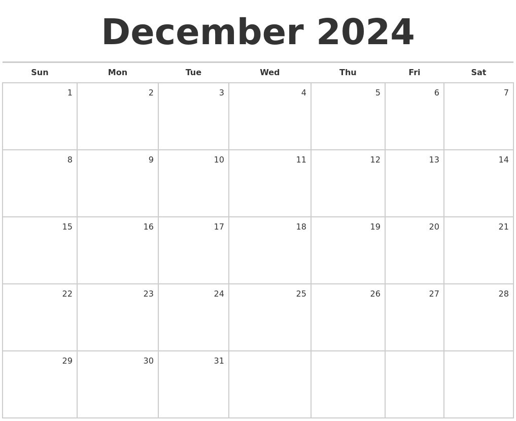 Blank Monthly Calendar December : August print free calendar