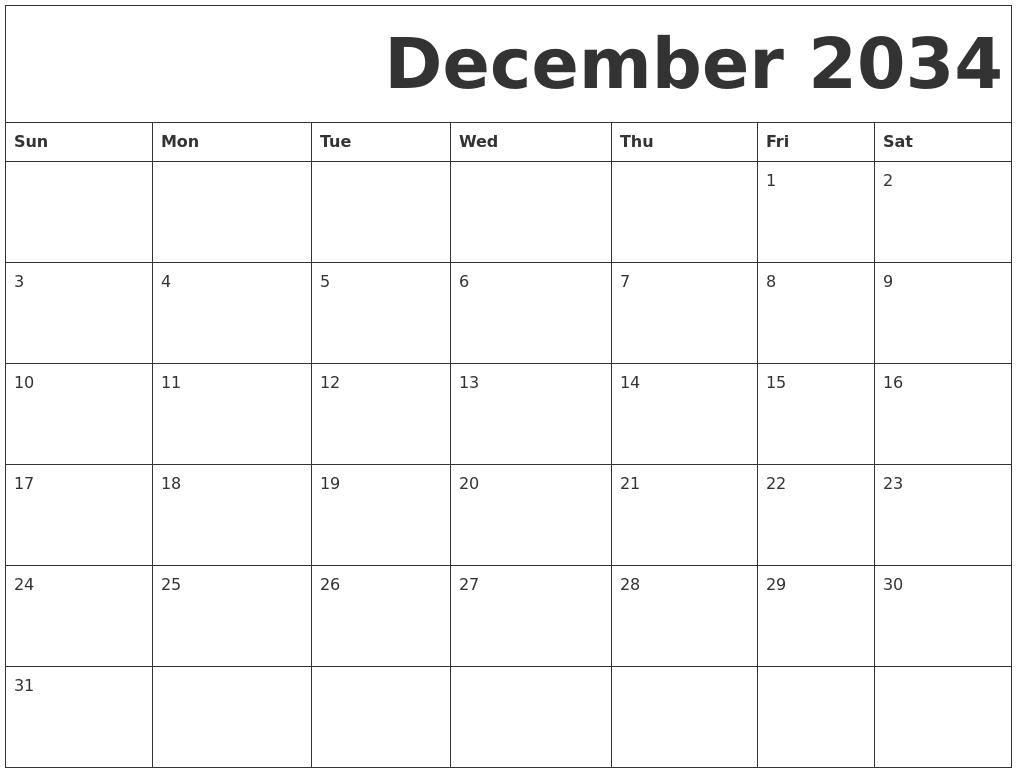 2018 january printable calendar