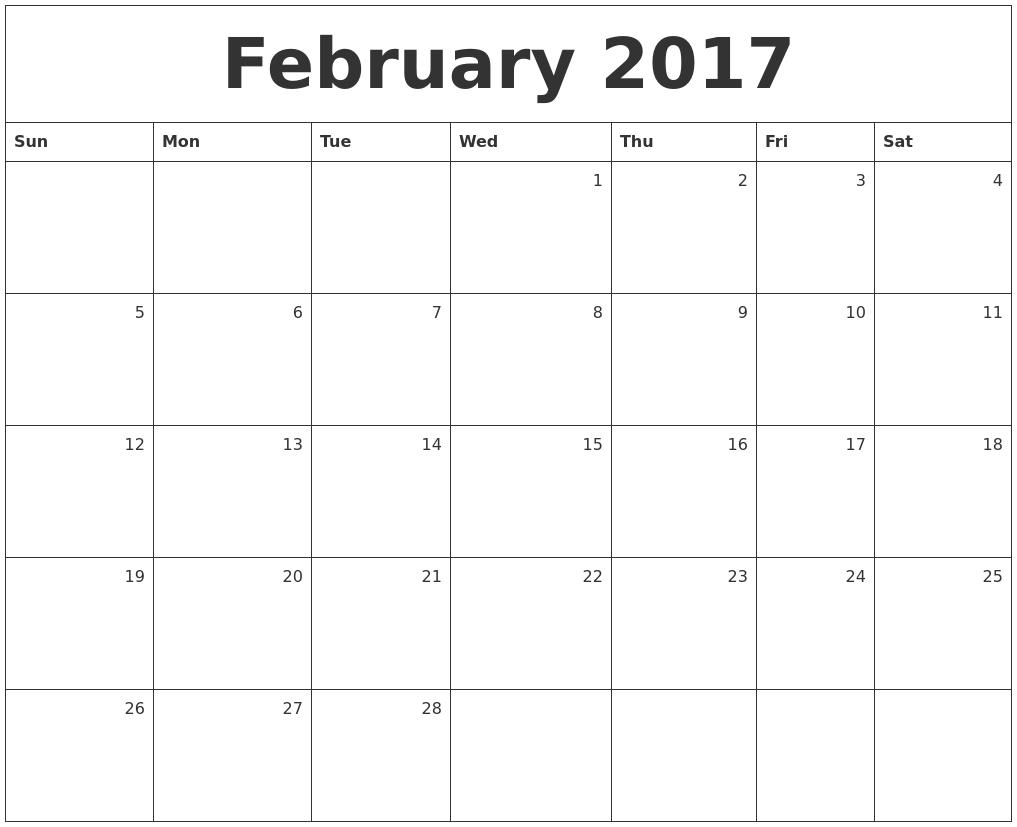 Calendar Monthly February : January blank calendar