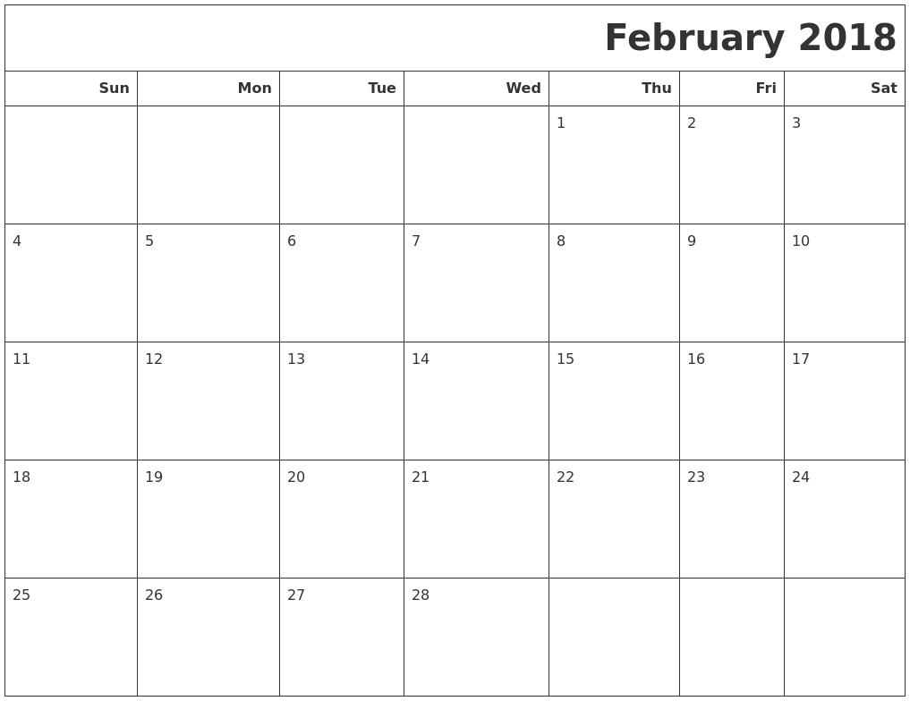 january february 2018 calendar printable