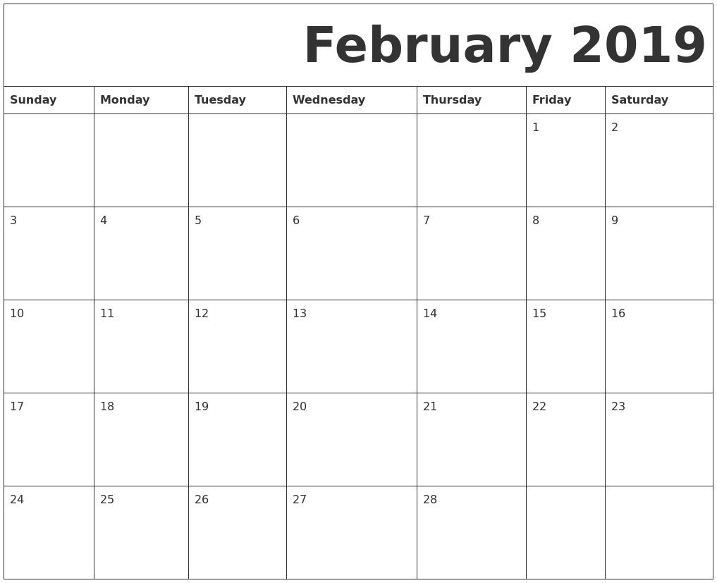 Diy Calendar Nz : February free printable calendar
