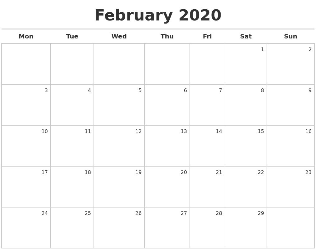 2020 Calendar Maker