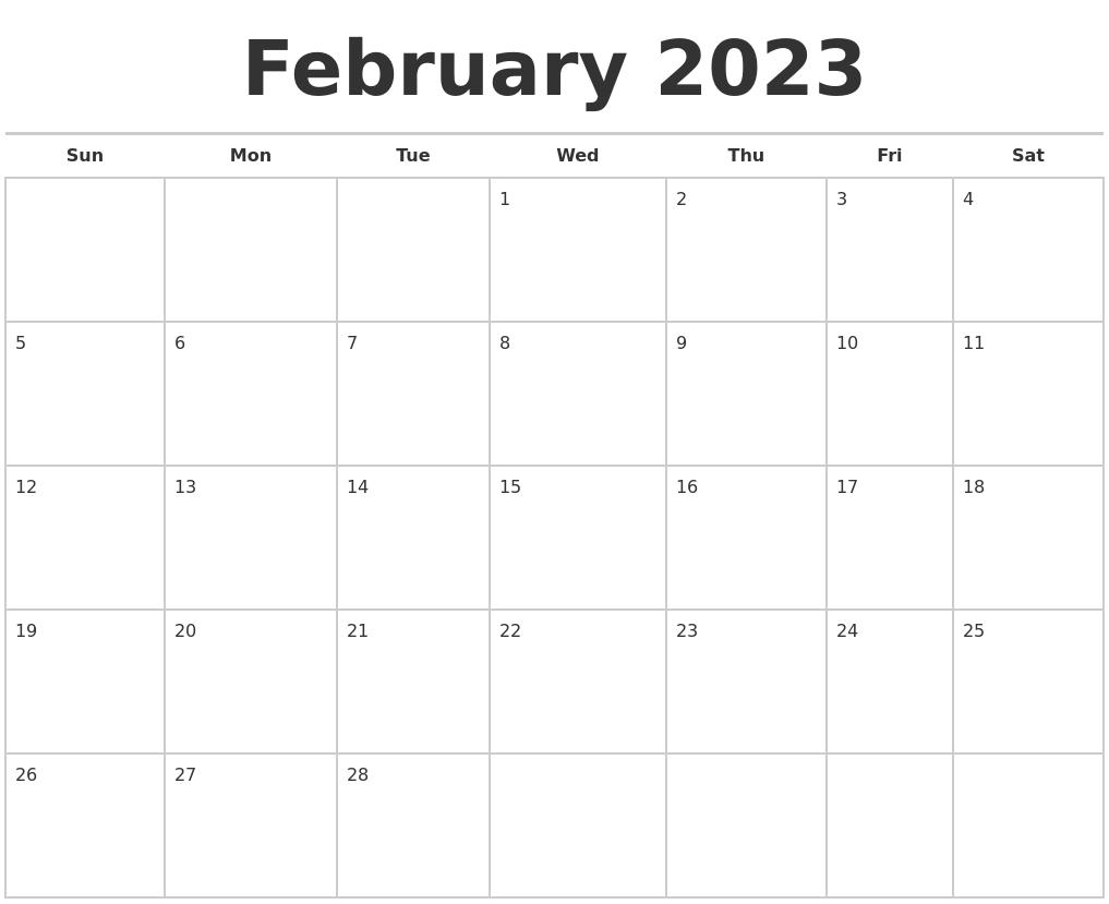 December 2022 Print A Calendar