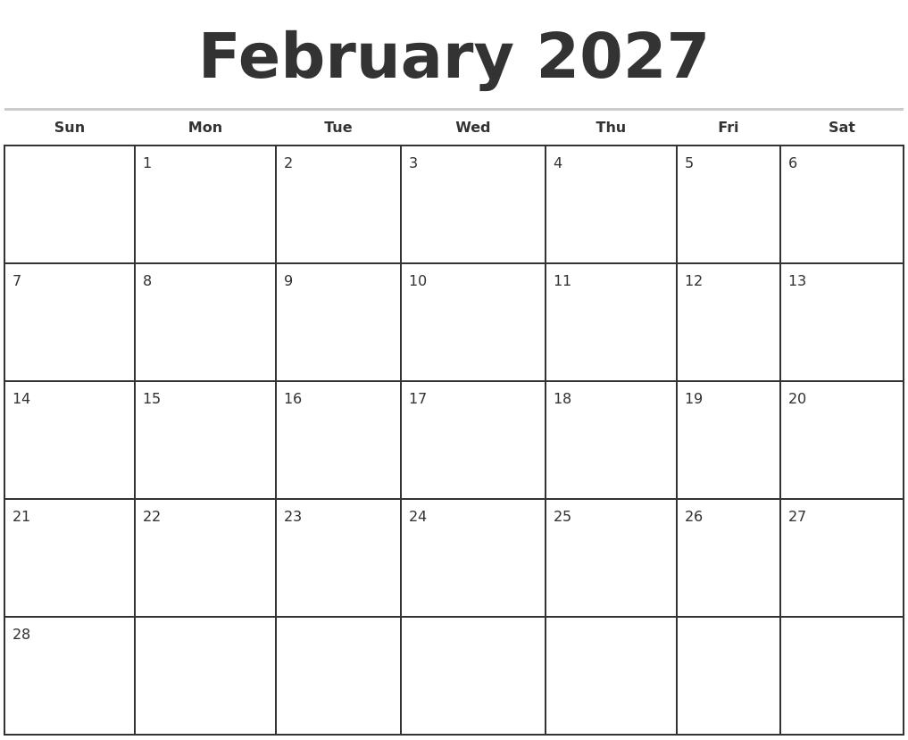 December 2026 Print Free Calendar