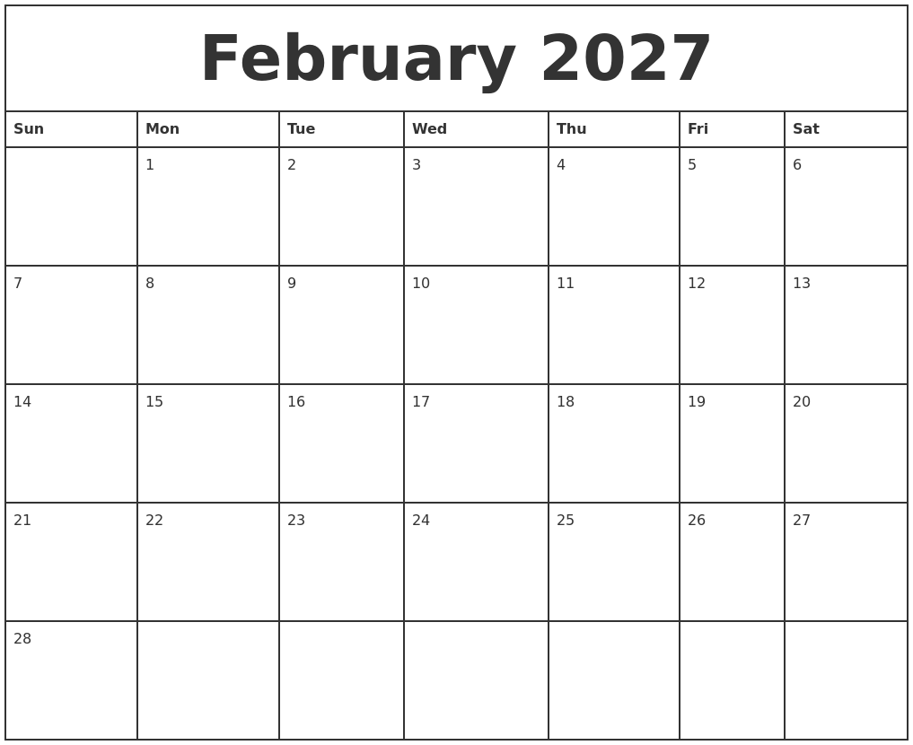December 2026 Calendar Printable