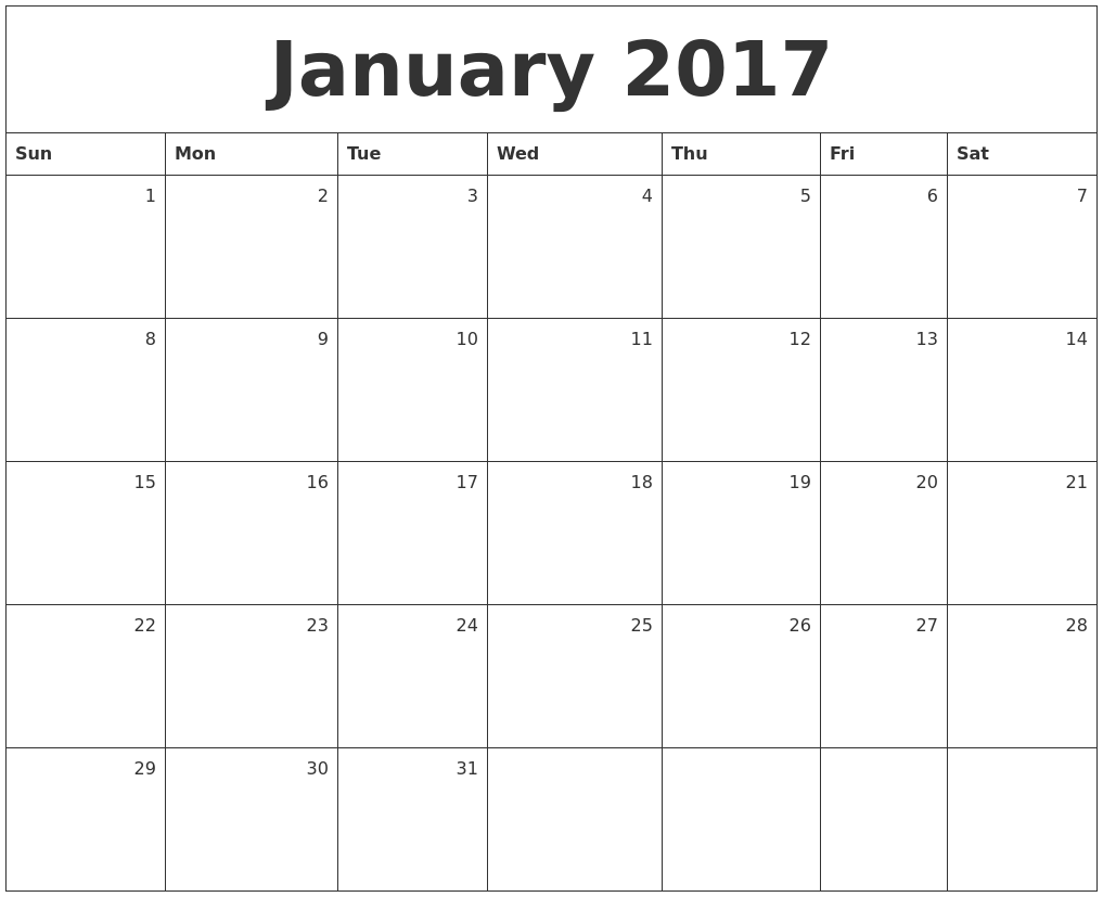Jan Monthly Calendar : January calendars