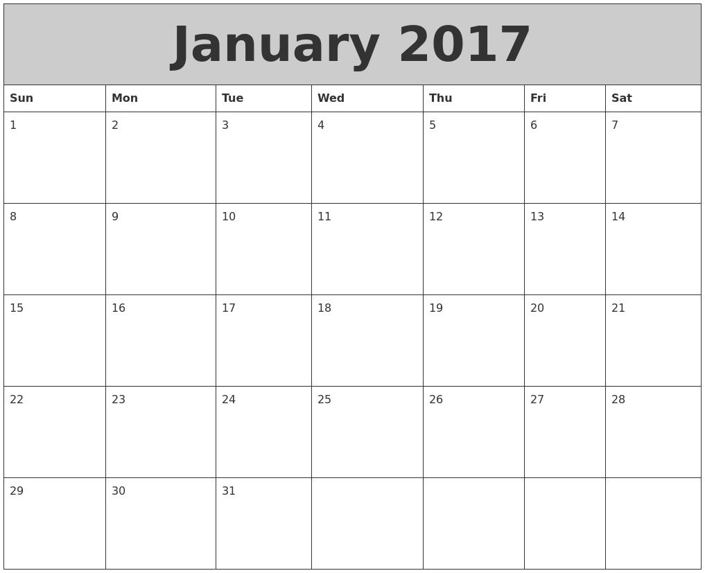 June 2017 Calendars That Work