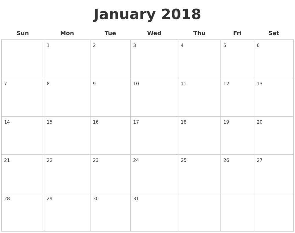 printable blank calendar pages