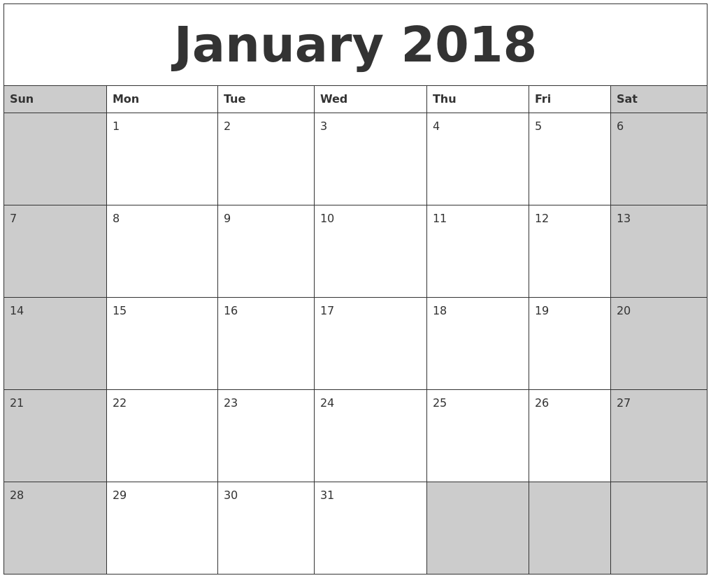 January 2018 calanders pronofoot35fo Image collections