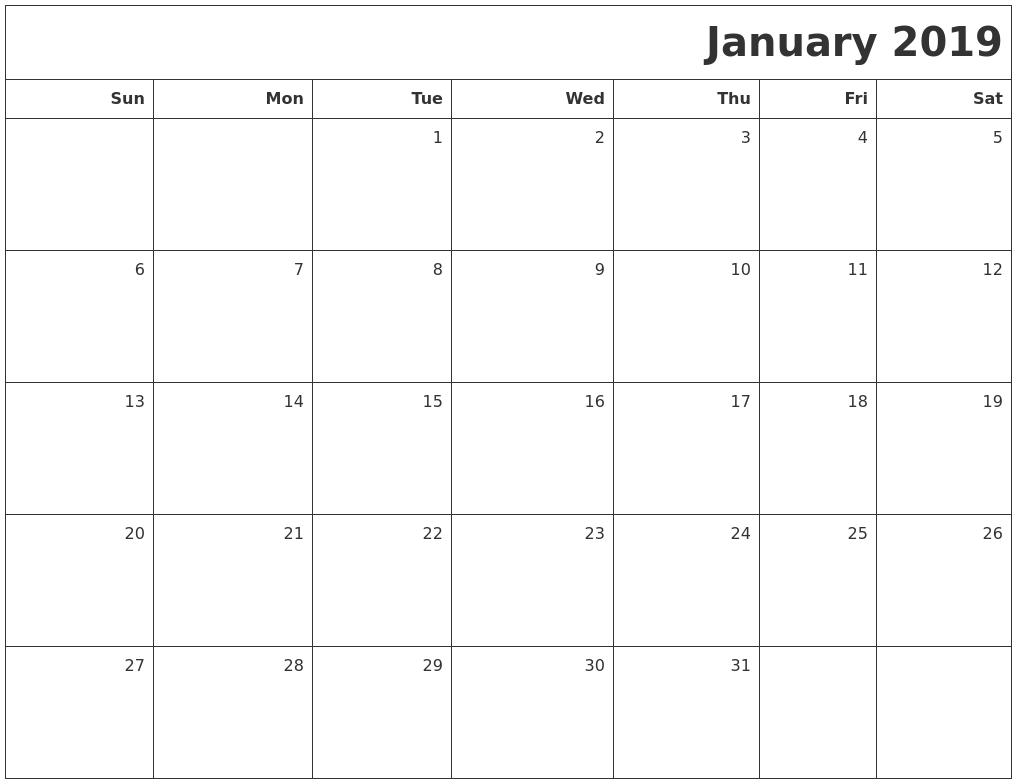 January Calendars