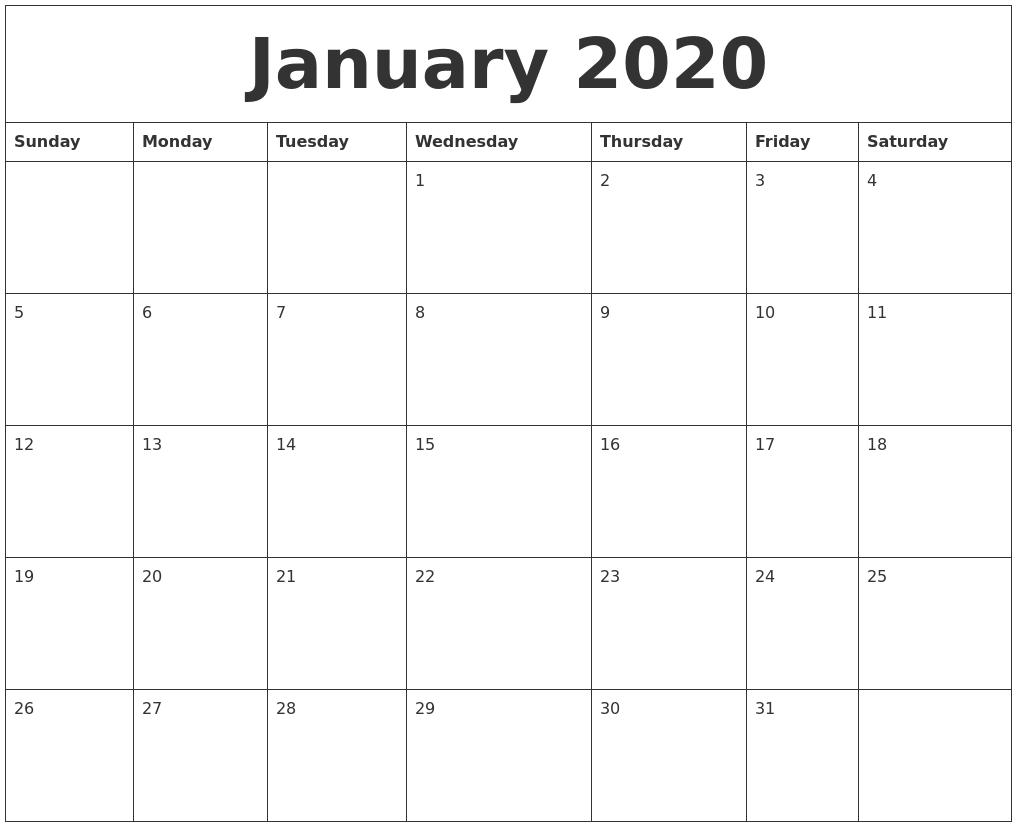 january calendar images