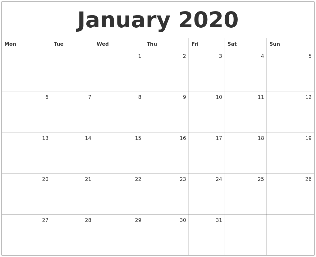 It's just an image of Challenger Free Printable Monthly 2020 Calendars