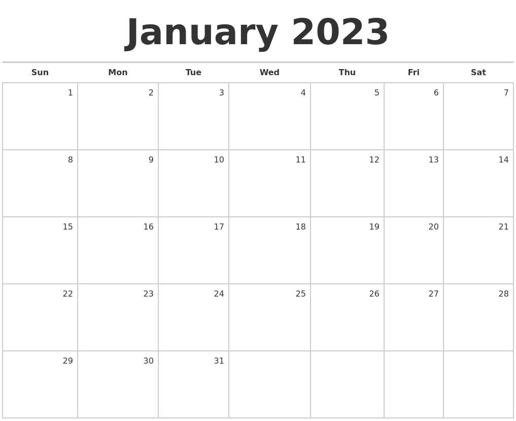 March 2023 Download Calendar