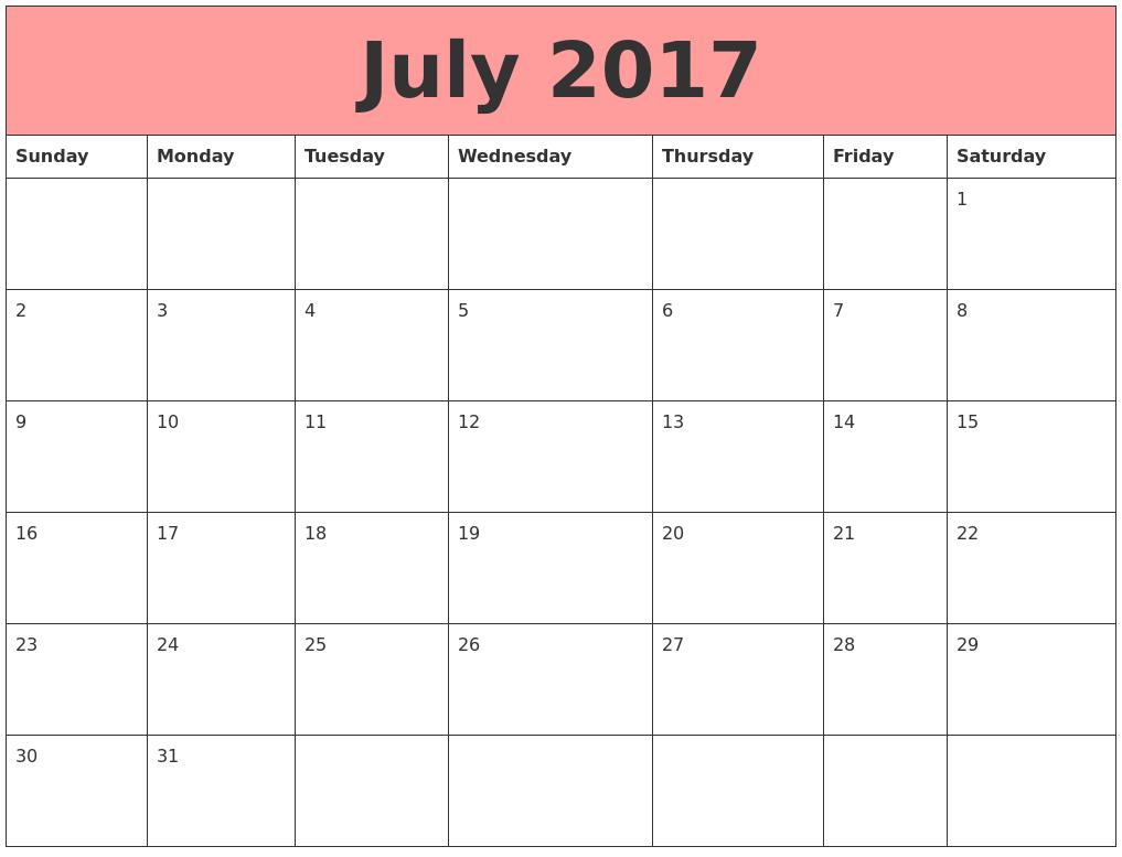 July August 2017 September Sun Mon Tue Wed Thu Fri …