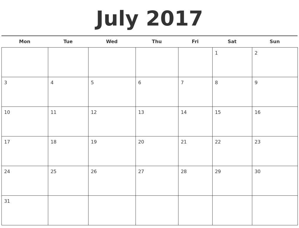 day to day calendar template