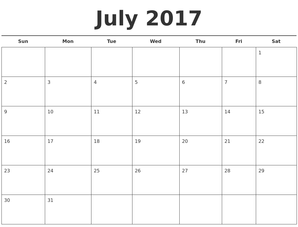 Free Printable Calendars For May June July August ...
