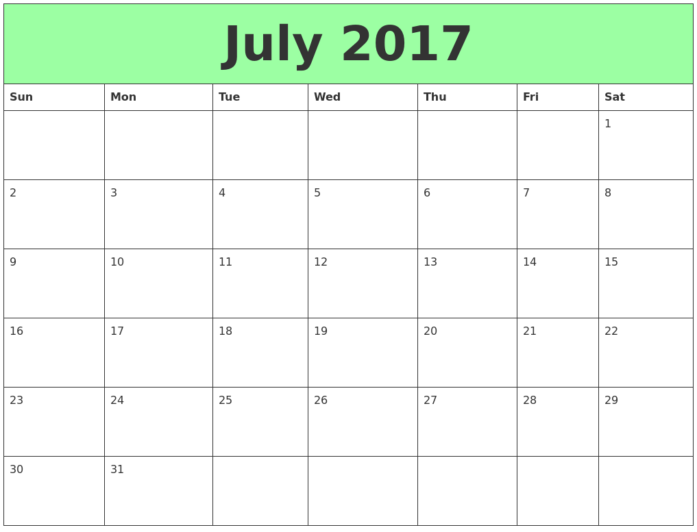 Free Printable 2017 Calendar: Holiday Calendar 2017 ...